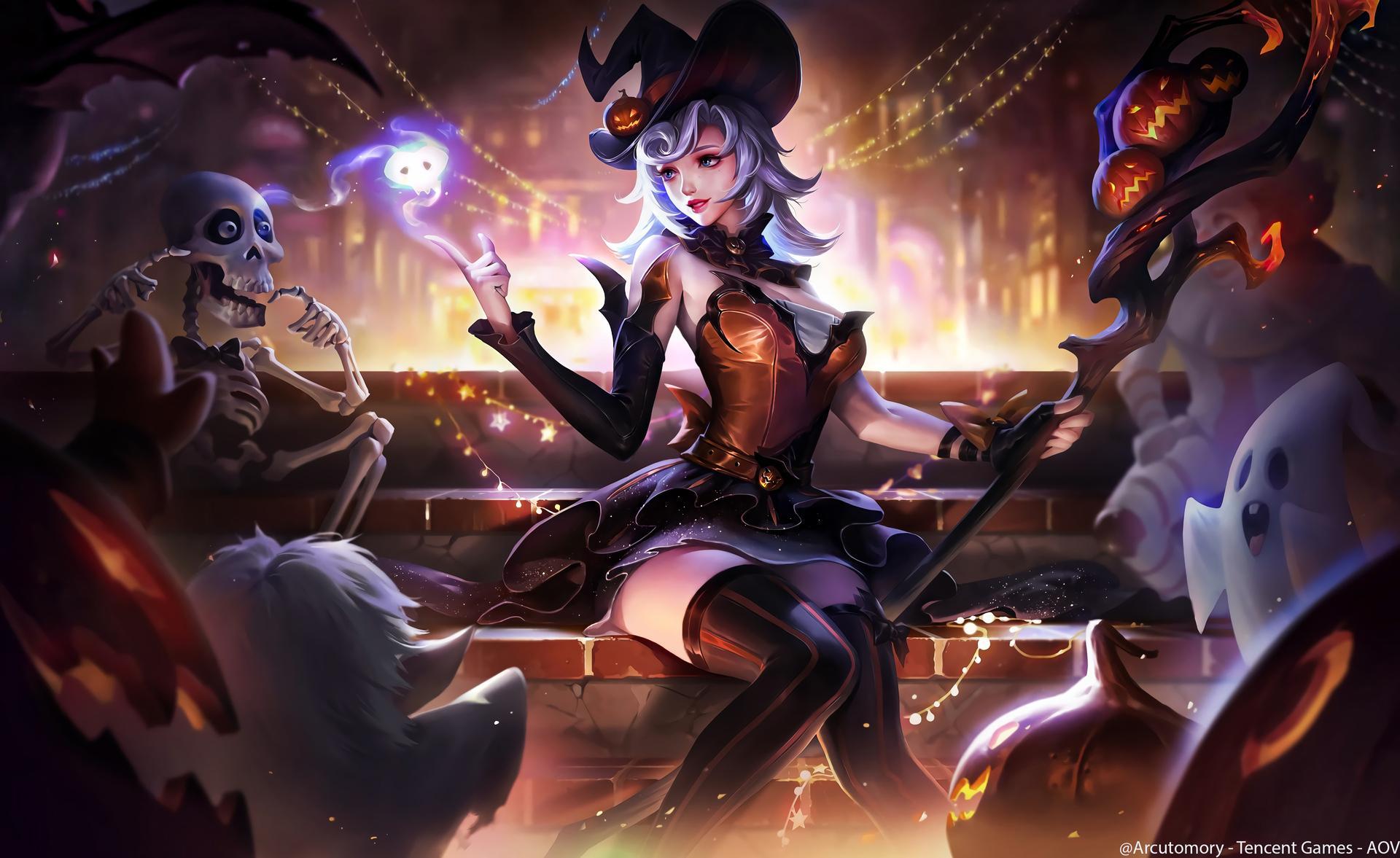 Hình nền máy tính game liên quân - Diaochan — Tangerine Conjurer