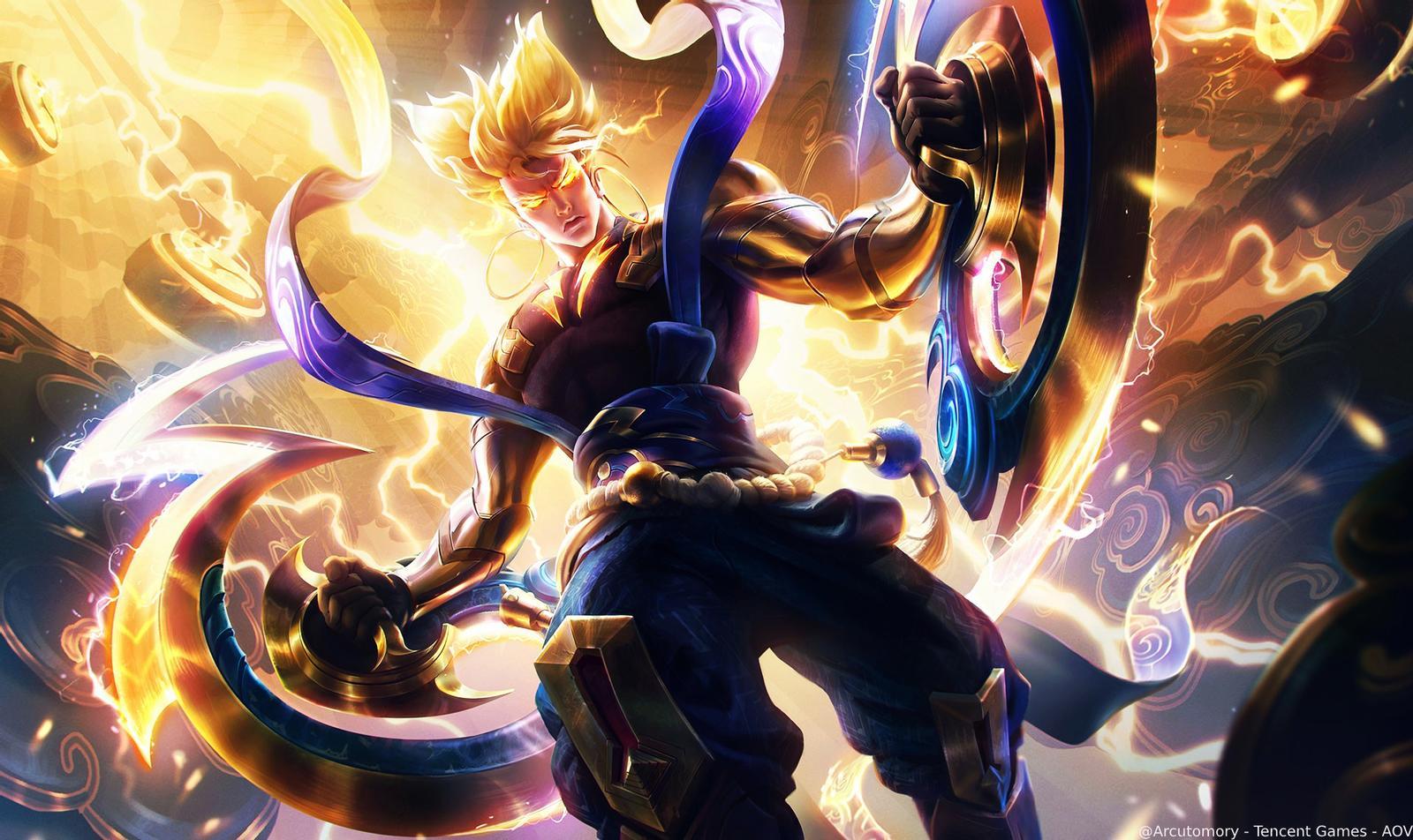 Hình nền game liên quân - Nakroth Celestial Thunder Bringer