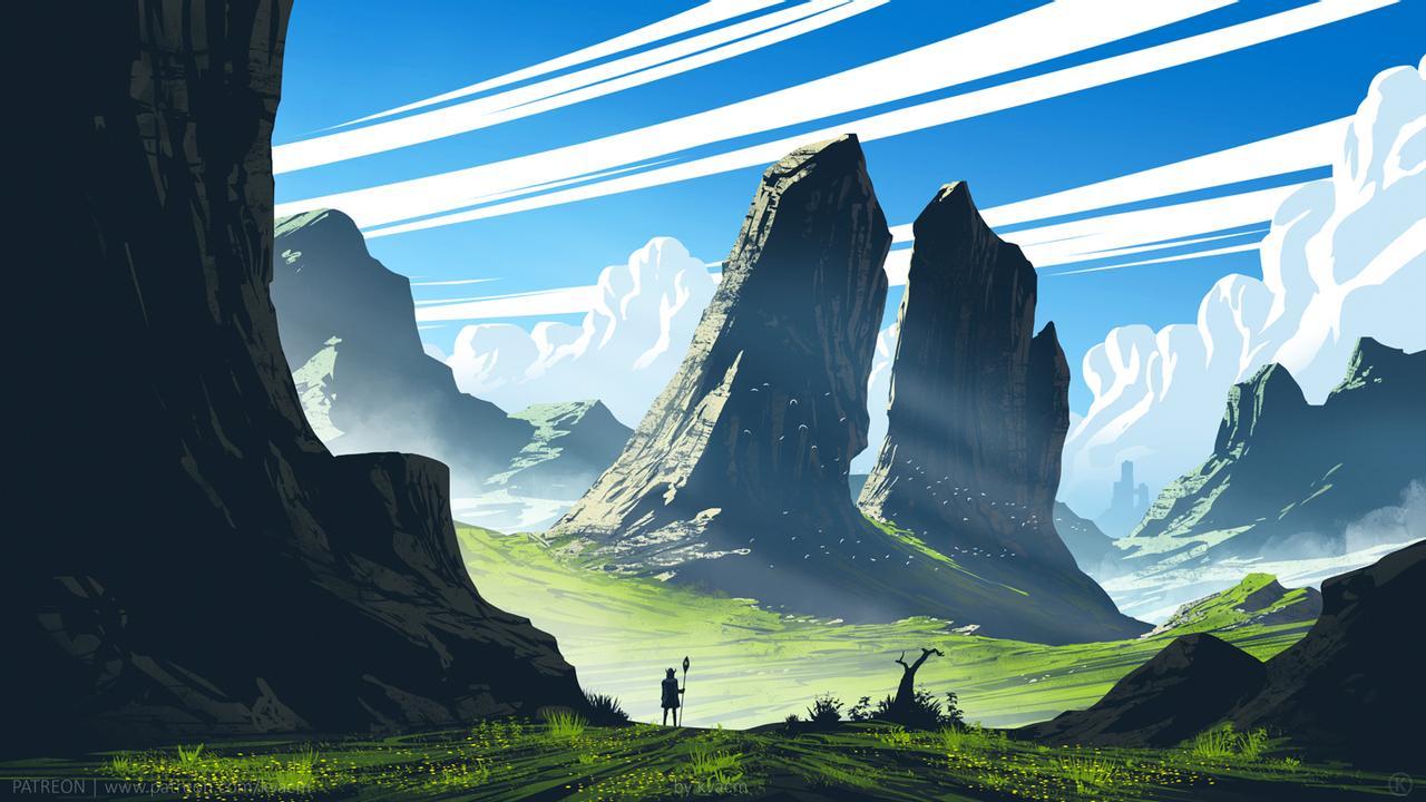 hình ảnh nền máy tính 4k game - Valley of Twin