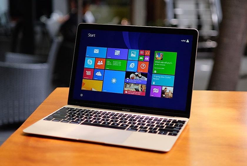 Macbook 12 inch đã được cài đặt Window 10