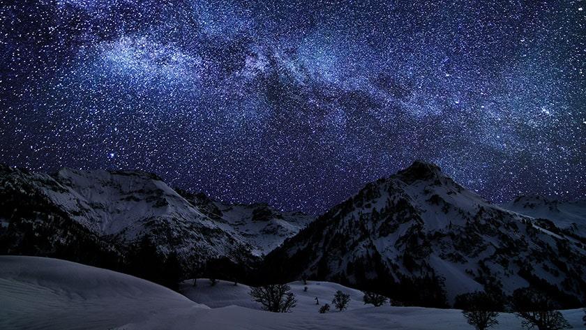 Hình nền Macbook thiên nhiê, bầu trời sao
