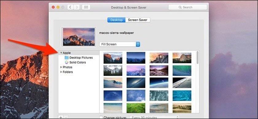 Đổi hình nền máy tính Macbook