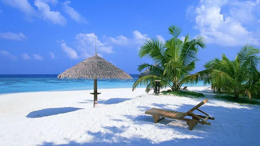 Hình nền máy tính đơn giản - bãi biển