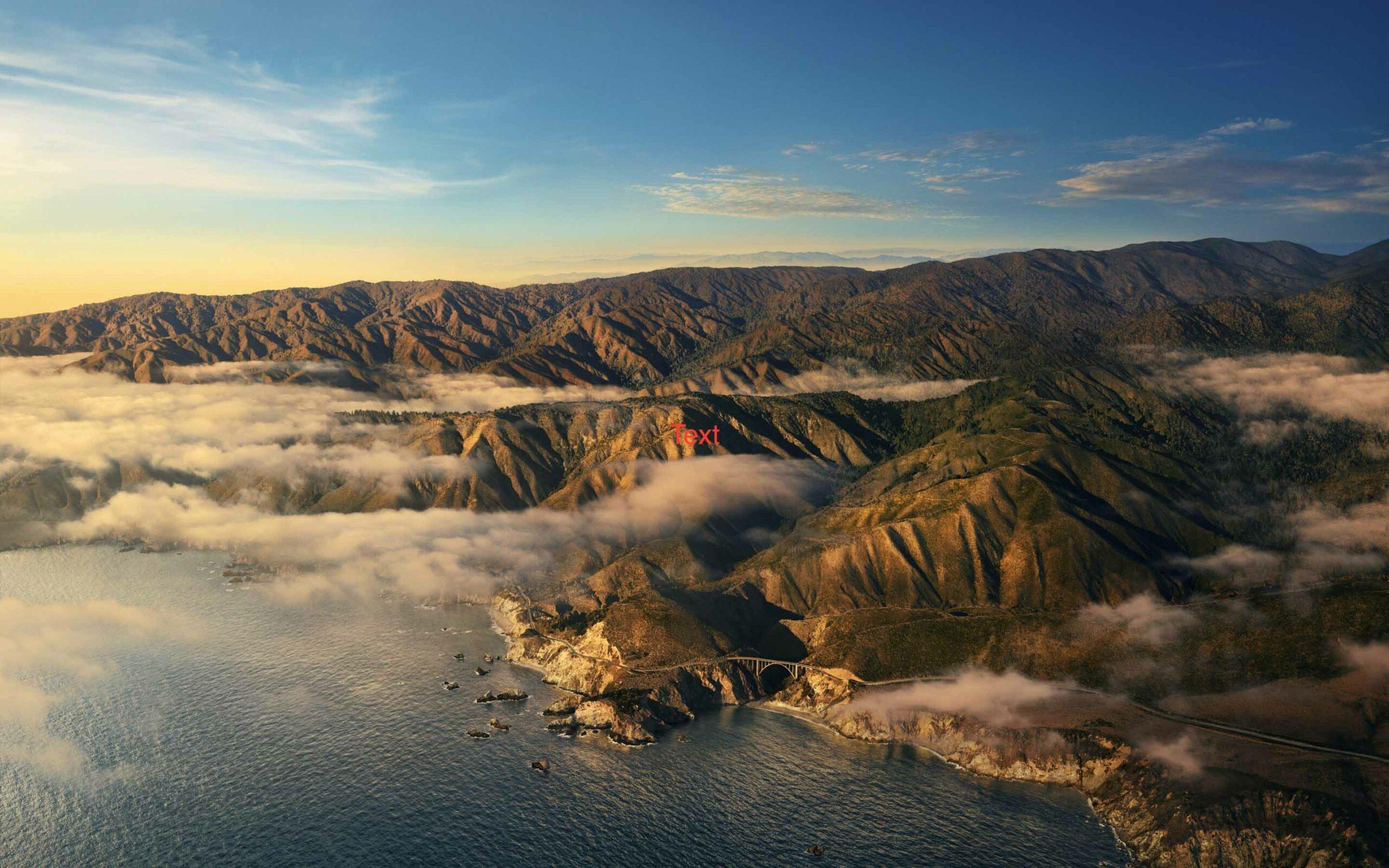 Hình nền Macbook 4k Big Sur - cảnh thiên nhiên núi buổi chiều