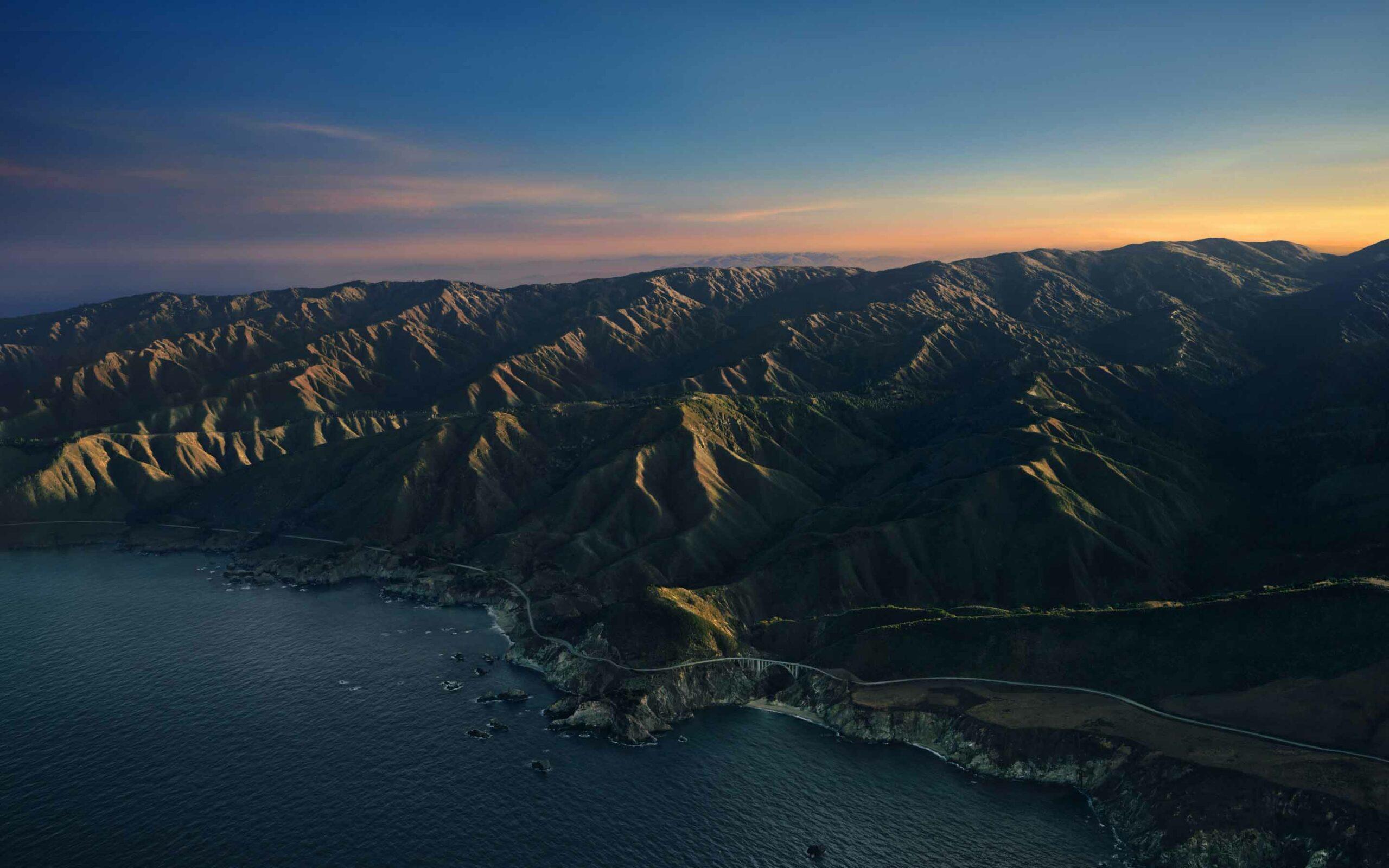 Hình nền Macbook 4k Big Sur - cảnh núi sáng sớm