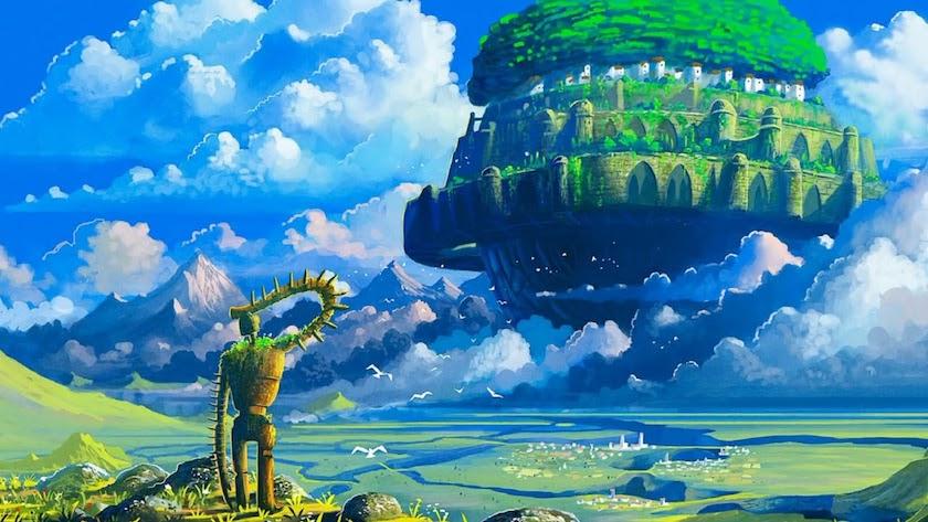 Hình nền Macbook Laputa Ghibli