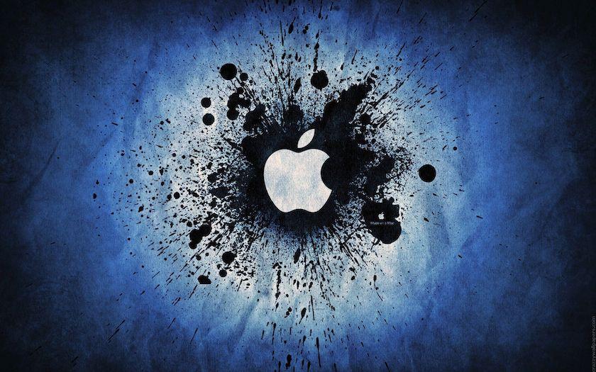 Hình nền Macbook đẹp, 4K logo quả táo
