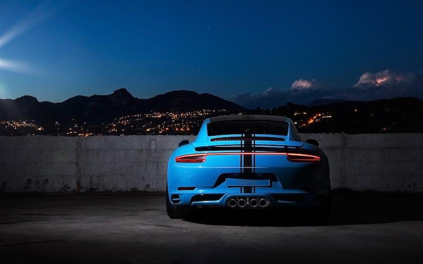 Hình nền máy tính siêu xe Porsche gt3 rs miami blue