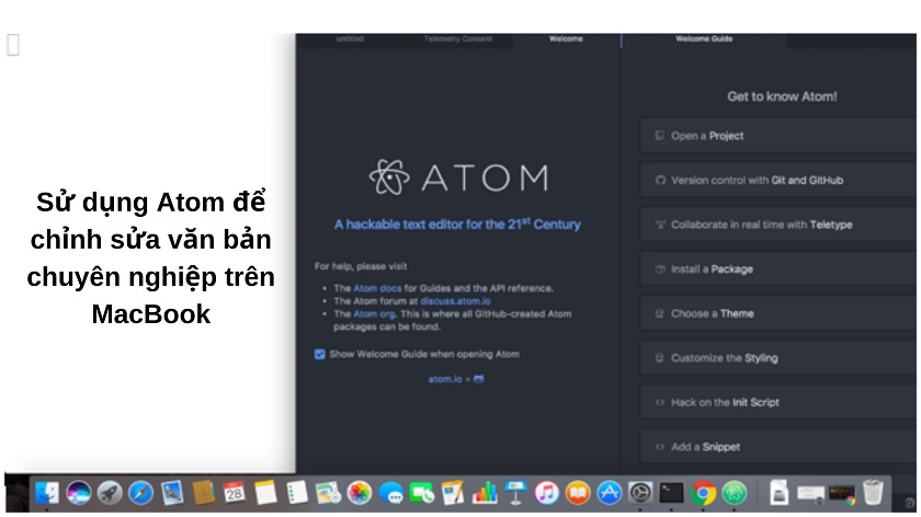 Atom - phần mềm cần thiết cho MacBook