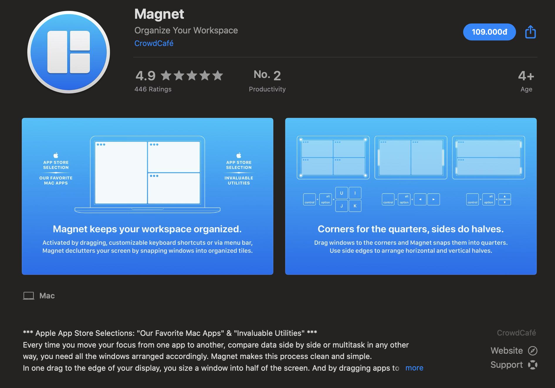 Magnet- phần mềm cần thiết cho Macbook