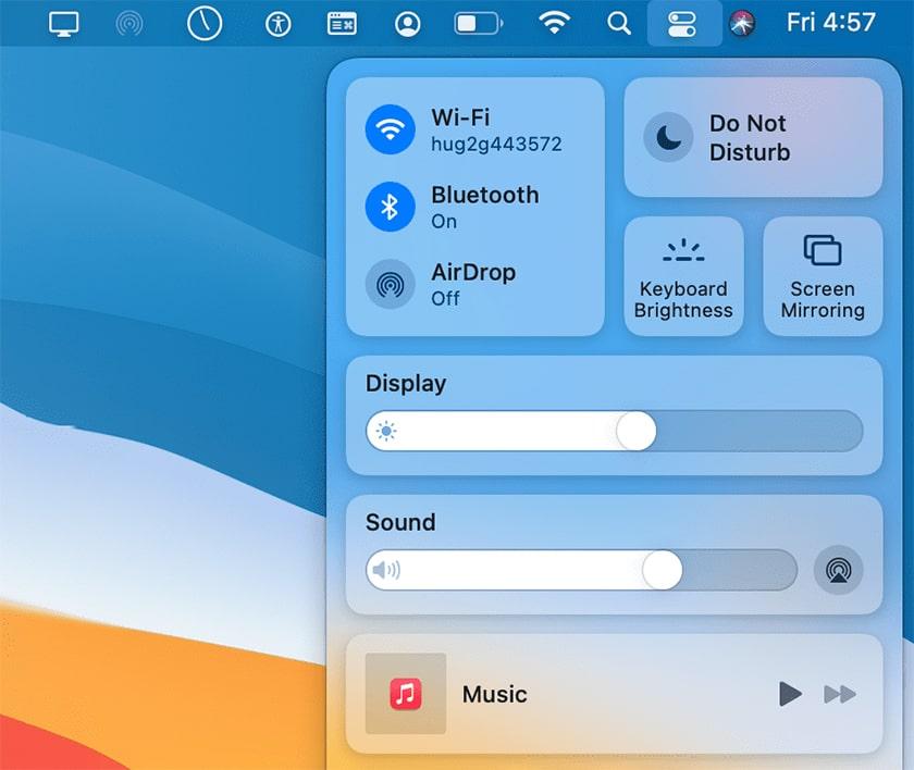 MacOS Big Sur thanh notification và widget linh hoạt hơn