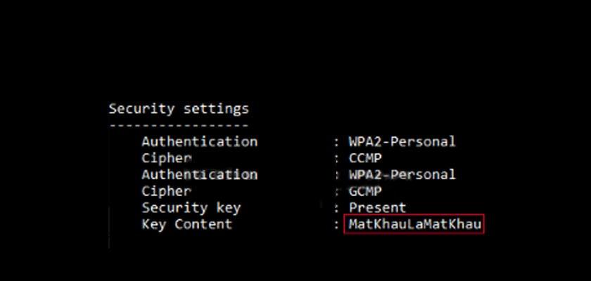 Sử dụng lệnh netsh wlan để xem mật khẩu wifi trên máy tính