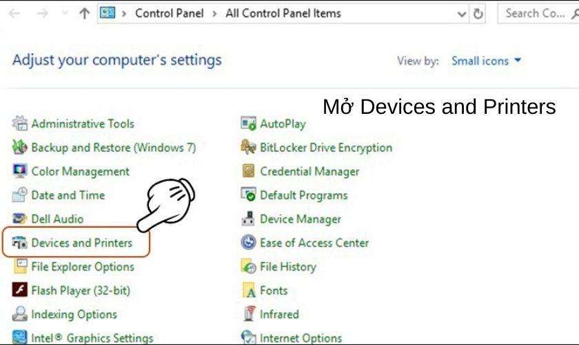 Cách tải, cập nhật driver về máy tính, Chọn Devices and Printers