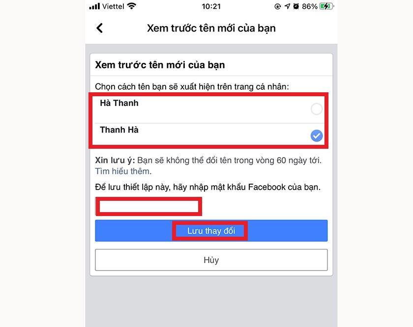 Cách đổi tên Facebook trên điện thoại cực dễ