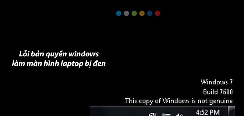 Lỗi bản quyền Windows
