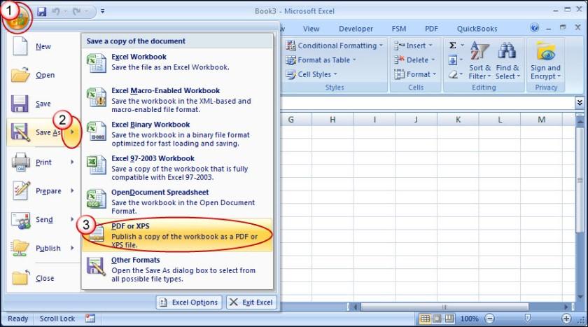 Đối với phiên bản Excel 2007 trở xuống