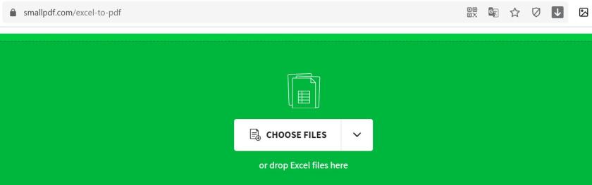 Chuyển Excel sang PDF qua Smallpdf