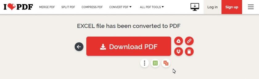 Chuyển đổi trực tuyến bằng ILovepdf