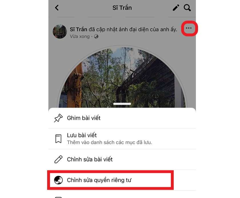 Cách cài đặt riêng tư avatar Facebook