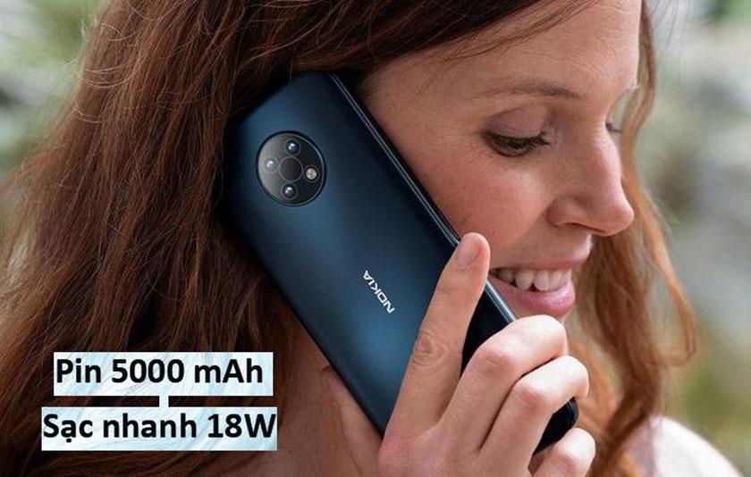 Nokia G50 5G có dung lượng pin ấn tượng